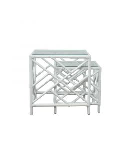 David Francis Chippendale Nesting Tables, Set of 2 - Available in a Variety of Finishes