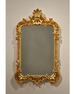 Carver's Guild Chippendale With Plume Wall Mirror in Antique Gold Leaf