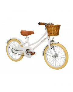 Vintage Style Child's Bike With Basket in White- Optional Matching Bike Helmet Available - ON BACKORDER UNTIL MID-MAY 2020