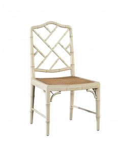 Bamboo Chippendale Mahogany Dining Side Chair