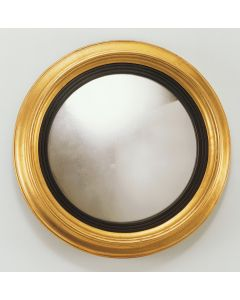 Carver's Guild Classic Rondel Wall Mirror in Antique Gold Leaf