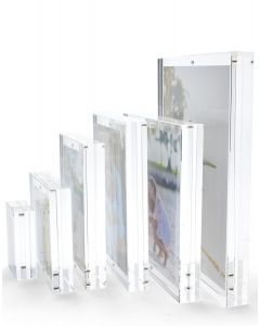 Clear Thick Block Double Sided Frame for 4 x 6 Photos
