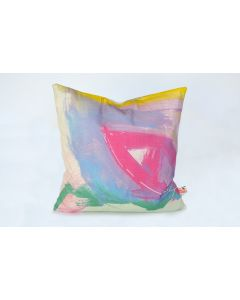 Colorful Original Abstract Art Atelier Pillow
