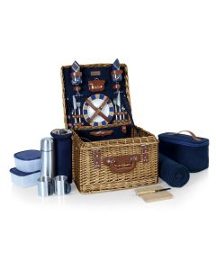 Complete Wicker Picnic Basket For 2- BACKORDERED UNTIL MID-MARCH 2021