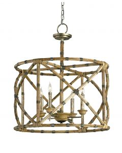 Palm Beach Contemporary Four Light Bamboo Lantern - LOW STOCK