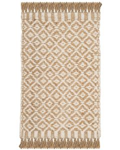 Contemporary Hand Woven Jute Rug in Natural and Ivory - Variety of Sizes Available