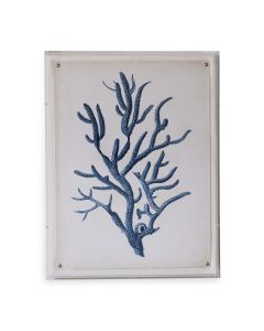Blue Coral IV Giclee Print in Lucite Shadow Box