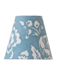 Cottage Blue Mini Lamp Shade with Oversize Floral Design