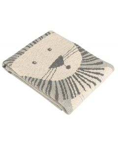 Cotton Lion Themed Baby Blanket - Available in Grey or Orange