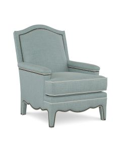 Channing Custom Upholstered Armchair – COM and Additional Fabrics Available