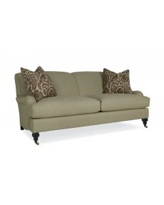 Telford Two Seat Upholstered Custom Apartment Sofa – COM and Additional Fabrics / Leg Options Available