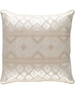 Cream and Khaki Diamond Design Throw Pillow - Available in a Variety of Sizes