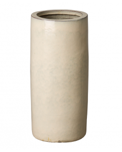 Cream Glossy Glaze Umbrella Stand - ON BACKORDER UNTIL MID-MARCH 2021