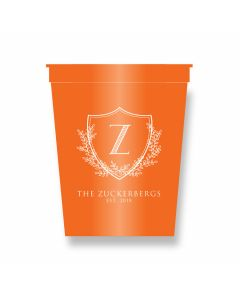 Crest Monogram Party Cups