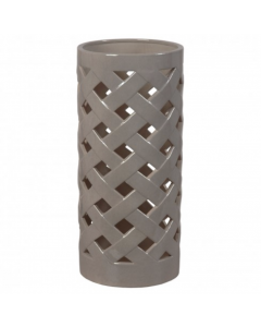 Criss Cross Umbrella Stand in Grey