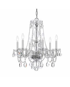 Traditional Swarovski Crystal 6 Light Chandelier