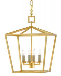 Small Lantern in Contemporary Gold Finish - ON BACKORDER UNTIL APRIL 2020