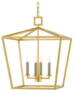 Medium 4 Light Lantern in Contemporary Gold Finish