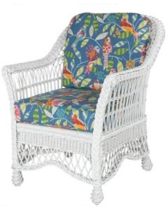 Curved Open Weave Braided Wicker Dining Arm Chair - Available in a Variety of Finishes