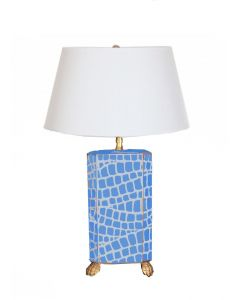 Blue Croc Table Lamp with Shade