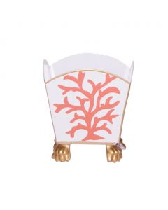 Coral Decorative Cachepot in Coral
