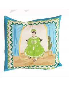 Empress Decorative Pillow in Turquoise