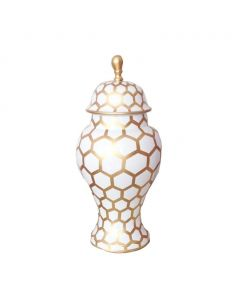 Gold Mesh Ginger Jar