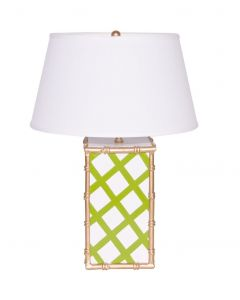 Green Bamboo Lattice Lamp