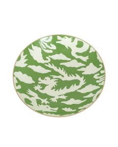Green Dragon Decorative Serving Bowl