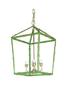 Large Green Bamboo Lantern