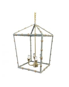Large Grey Bamboo Lantern