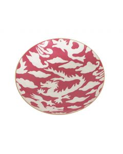 Pink Dragon Decorative Serving Bowl
