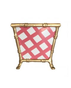 Pink Lattice Bamboo Cachepot
