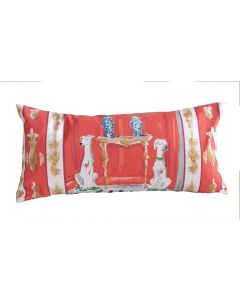 Red Dog Lumbar Decorative Pillow