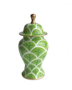 Small Bedford Green Ginger Jar