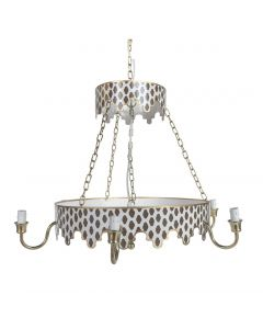 Two Tiered Brown Parsi Chandelier