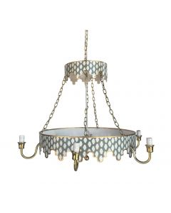 Two Tiered Grey Parsi Chandelier