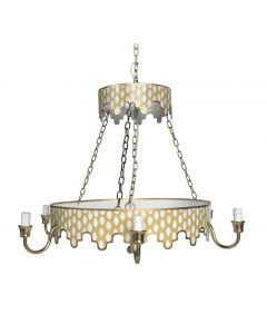 Two Tiered Taupe Parsi Chandelier