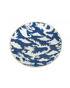 Blue Dragon Decorative Serving Bowl