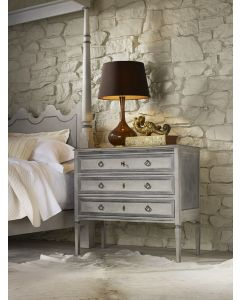 Modern History Danish Three-Drawer Commode-Painted