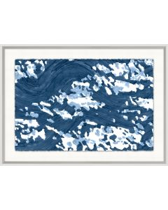 Dappled Waves 1 Framed Wall Art in Blue