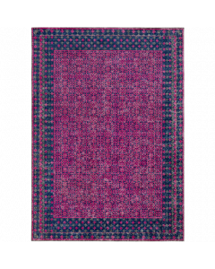 Dark Blue and Garnet Tessera Rug - FINAL STOCK, CALL TO CONFIRM AVAILABILITY