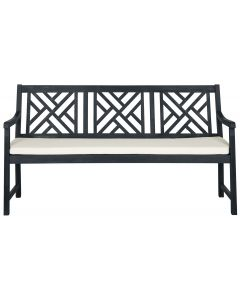 Dark Slate Grey and Beige 3 Seat Garden Bench - OUT OF STOCK