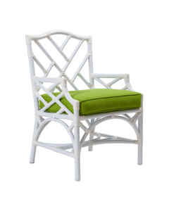 David Francis Chinese Chippendale Outdoor Dining Armchair - Available in a Variety of Finishes