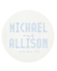 Deco Wedding Personalized Letterpressed Coasters
