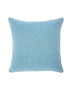 Decontracté Square Linen Pillow in Chambray Blue - Available in Two Sizes
