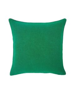 Decontracté Square Linen Pillow in Emerald Green - Available in Two Sizes