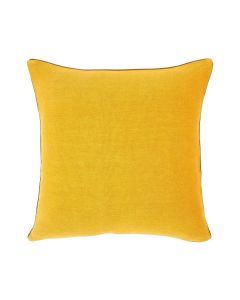 Decontracté Square Linen Pillow in Yellow - Available in Two Sizes