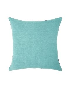 Decontracté Square Linen Pillow in Aqua - Available in Two Sizes