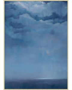 Deep Blue Sky at Night Framed Wall Art